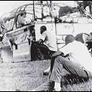 """The Freedom Riders left Washington on May 4, 1961 and traveled without incident across Virginia and North Carolina.  They encountered violence for the first time at the bus terminal in Rock Hill, South Carolina when several young white males beat black riders who attempted to use a """"whites only"""" res...The Freedom Riders left Washington on May 4, 1961 and traveled without incident across Virginia and North Carolina.  They encountered violence for the first time at the bus terminal in Rock…"""