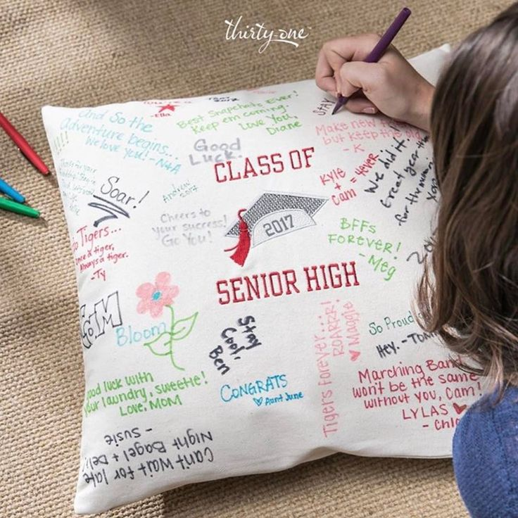 "45 Likes, 3 Comments - Thirty-One Gifts (@thirtyone) on Instagram: ""Our Statement Canvas Pillow Cover makes the perfect keepsake for the graduate in your life! …"""
