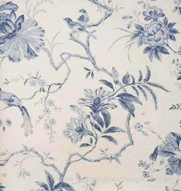 Beställ Pillemont Toile vit/neutral/beige/grå tapet från Sanderson®