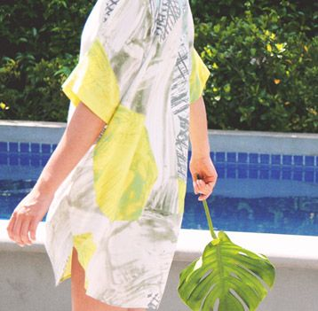 Nikel and Sole Dali Dress in Citron