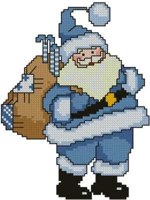 Advanced Embroidery Designs - Blue Santa