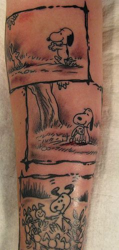 Snoopy and Bunnies Tattoo -- if I ever got a tattoo, this would be it!