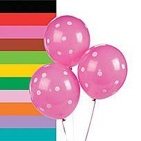 Polka Dot Latex Balloons - 13733685