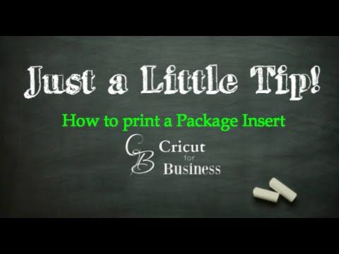 How to Create a Package insert - CricutforBusiness.com