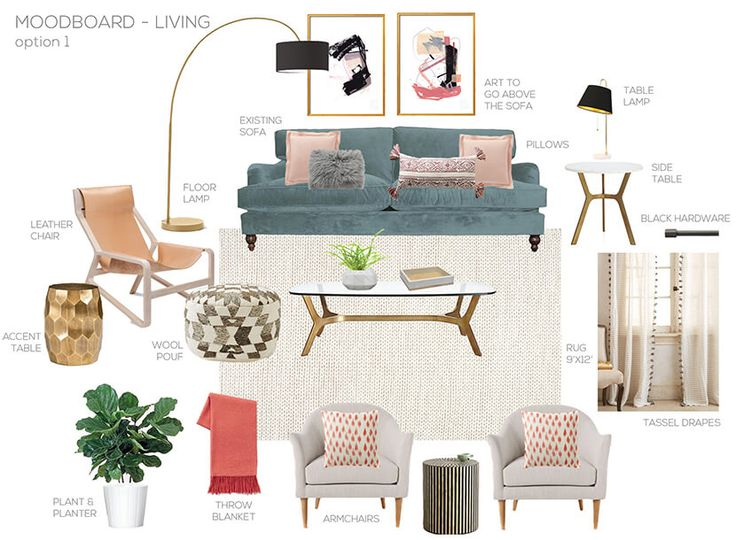 A Modern Eclectic Family Room