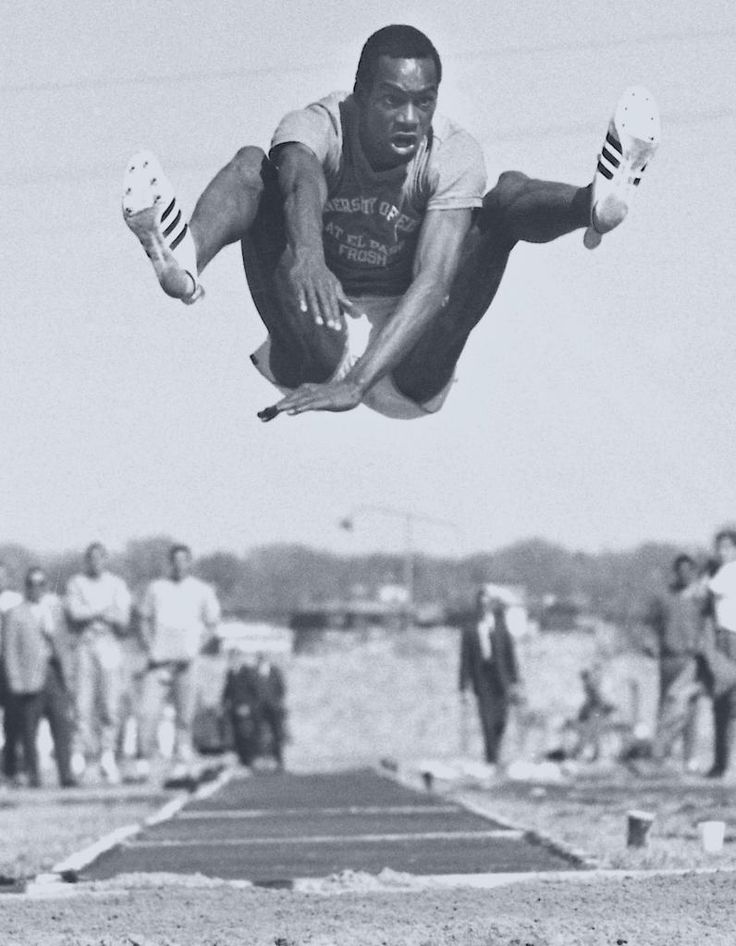 "Bob Beamon October 18, 1968 World long jump was beat by Bob Beamon, record at 29 ft., 2½ in. in at the Mexico City Summer Olympics. His long jump bettered the world record by over 21""."