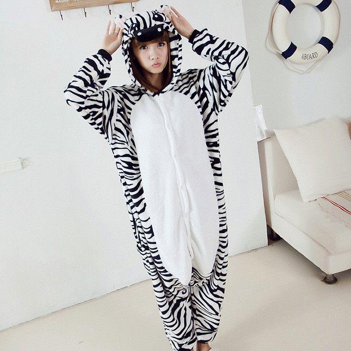 Zebra Adult Pajama Onesie