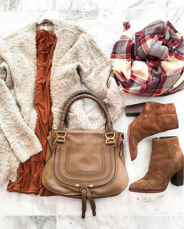 ipso: wear my long cream sweater with dress, boots, leggings and plaid scarf.