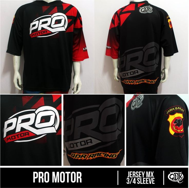 Jersey MX 3/4 sleeve Pro Motor Sublimation Print  By. Qita Design