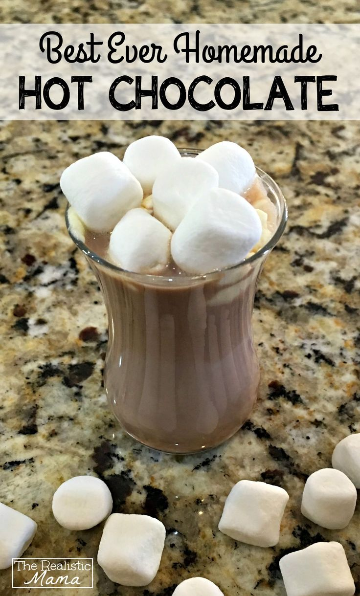 Making hot chocolate for a crowd - Best Ever Homemade Hot Chocolate Recipe