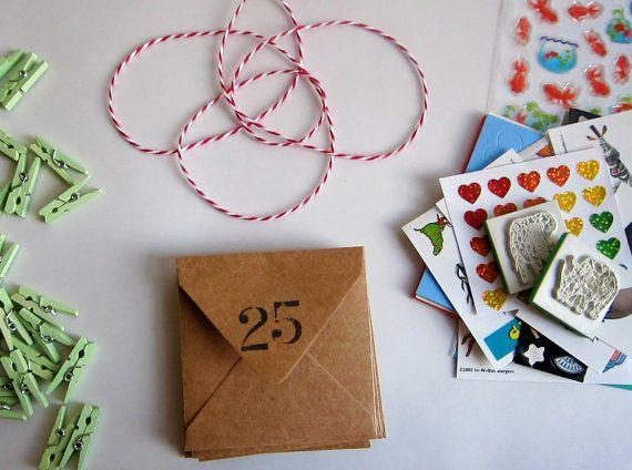 25 days till Xmas  Fun Pack Advent Calendar by EcoMonster on Etsy