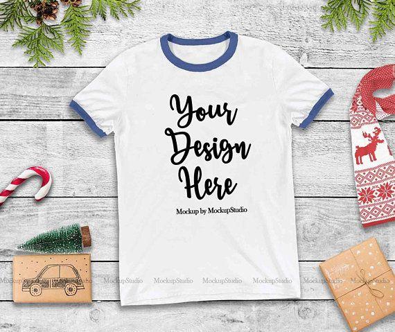 Download Best Free Christmas Ringer Shirt Mockup Blue Sleeve Bands T Shirt Flat Psd Free Psd Mockup T Mockup Free Psd Free Psd Mockups Templates Free Packaging Mockup