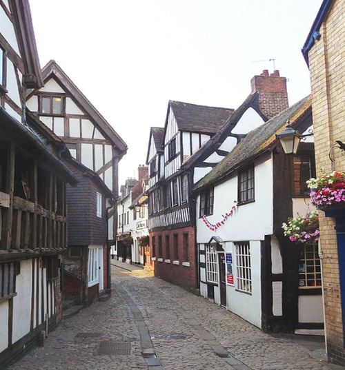 Shrewsbury in Shropshire, West Midlands, England