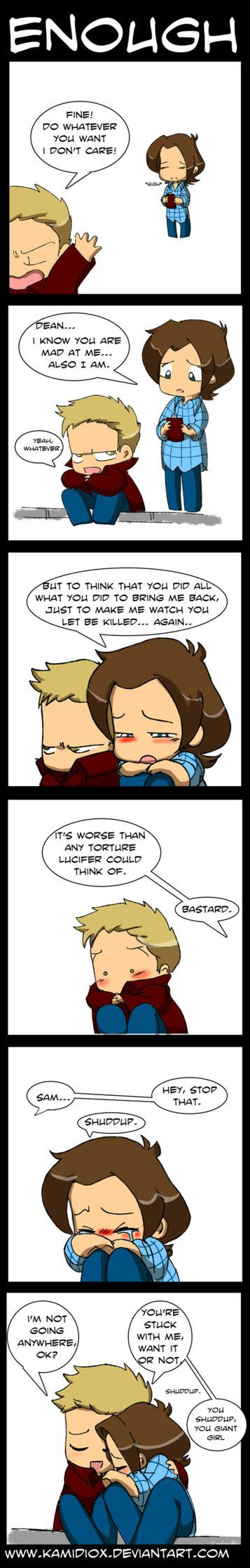 Enough pt.2 by KamiDiox on deviantART  so cute and sweet and sad!!!!!!!!!!