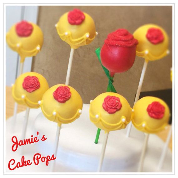 Beauty and the Beast inspired Cake Pops by JamiesCakePops on Etsy