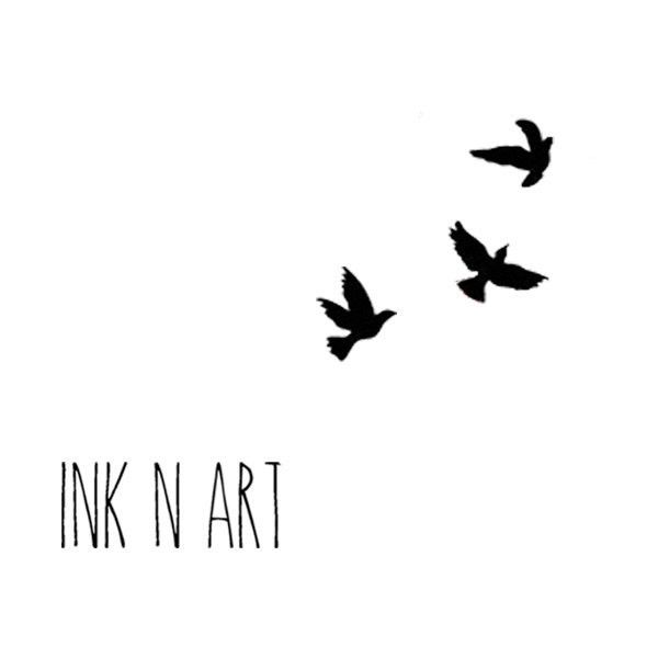 Little swallows birds - InknArt Temporary Tattoo - wrist quote tattoo... ($3.99) ❤ liked on Polyvore featuring accessories, body art and text