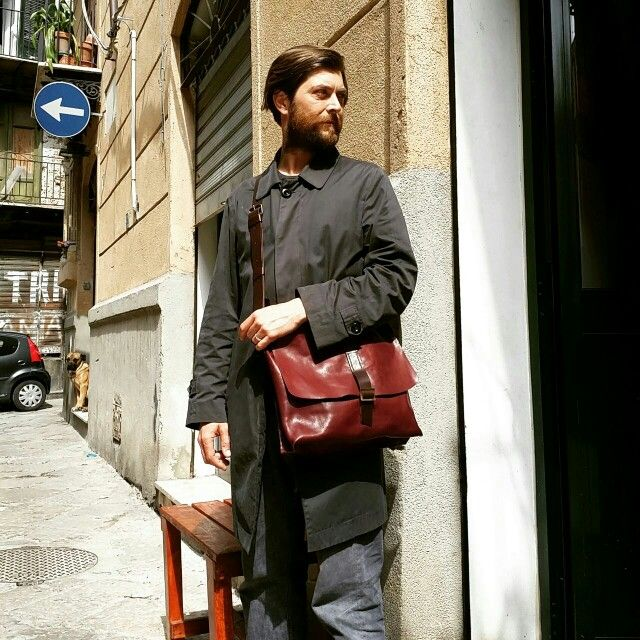 Messenger leather  Borsa del Pellegrino