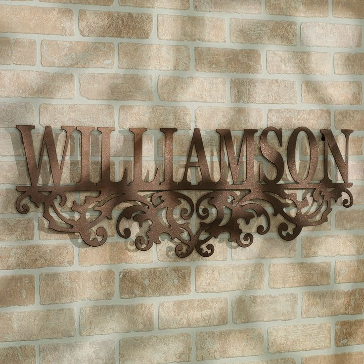 Kinship bronze family name personalized metal wall art sign
