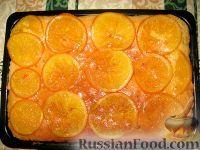 Фото к рецепту: Сочный апельсиновый пирог