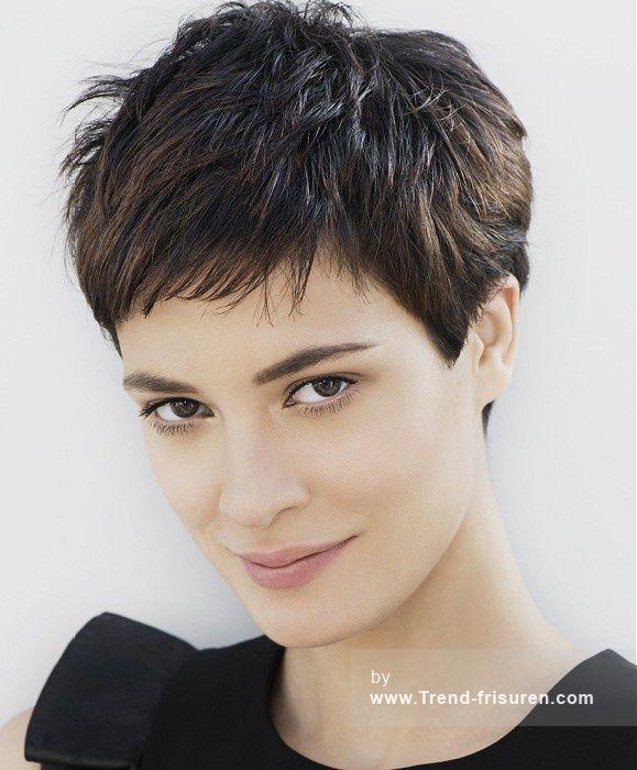 Franck Provost Braun Kurze weiblich Gerade Französisch Frauen Haarschnitt Frisuren hairstyles