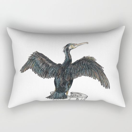 The Great Cormorant Rectangular Pillow