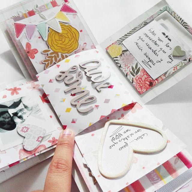 Caja explosiva scrapbook. Isa's Mix: Crónica talleres Paige Evans en Maraki Scrap.#card #tarjeta #diy