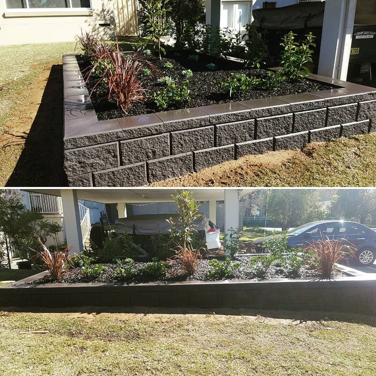 Amber Tiles Kellyville: pinned from Instagram @beyond_tomorrow_landscapes. Job completed by  Beyond tomorrow landscapes.  Heron block retainig wall #heron #retainingwall #ambertiles #ambertileskellyville