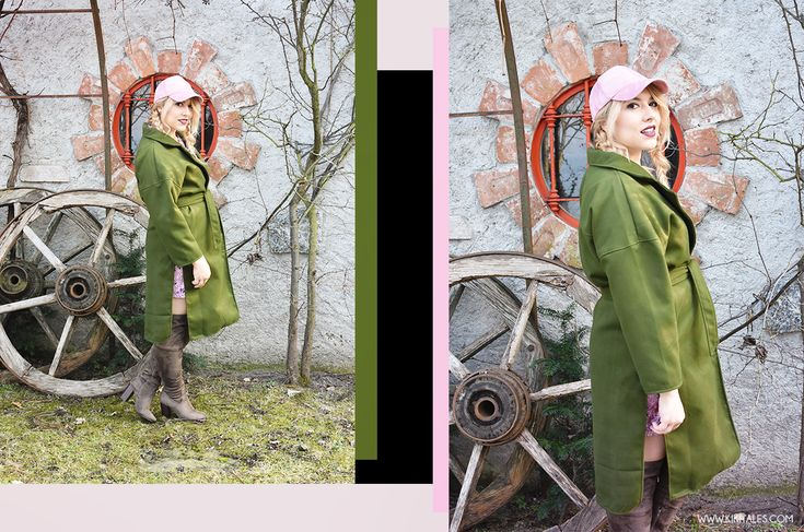 A/W Outfit: verde militare e rosa! #winter #inverno #ootd #ootn #outfit #style #look #fashion #autunno #autumn #aw #chic #elegant #girly #cuissardes #velluto #pink #rosa #militarygreen #green #verde #verdemilitare #suede #shein