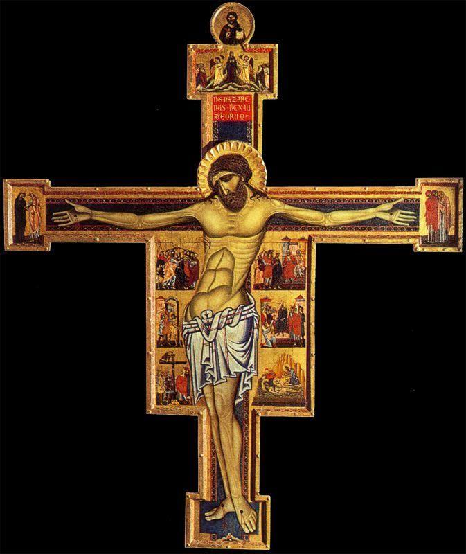 Коппо ди Марковальдо. «Крест». после 1261 г. Сан Джиминьяно, Пинакотека.
