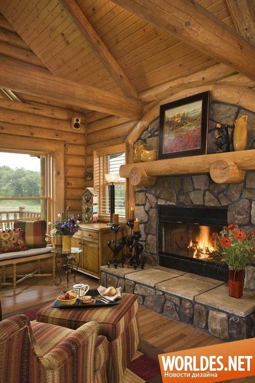 Уютные гостиные в деревенском стиле фото 32