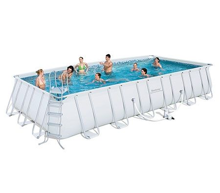 Bestway Deluxe Steel Frame Above Ground Swimming Pool