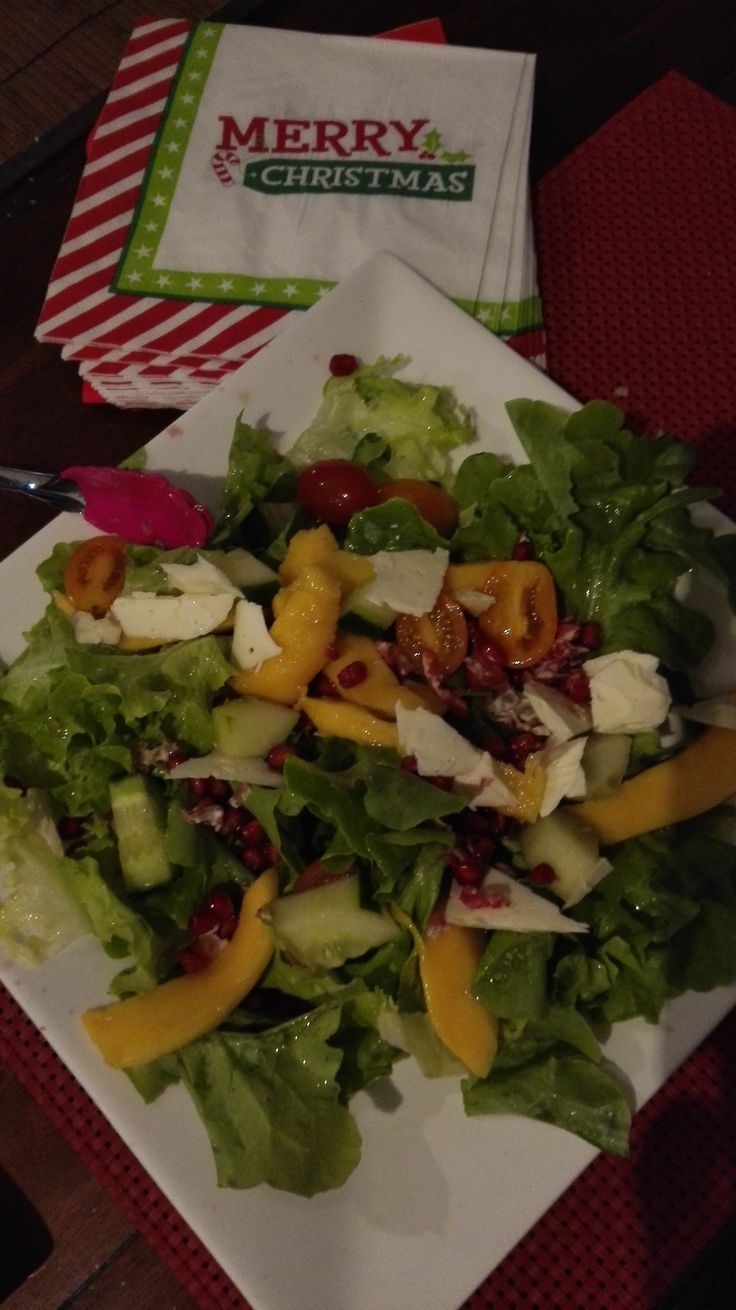 My salads are often made with a mixture of fruits like mango, kiwi or pineapple,