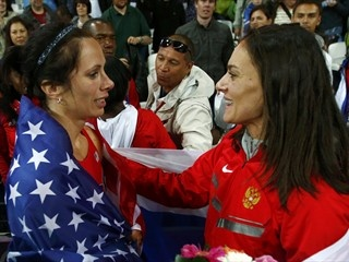 Jenn Suhr toughness earns her Olympic pole vault crown |    American battles wind, cold to dethrone world-record-holder Yelena Isinbayeva
