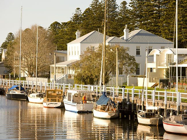 Port Fairy, Victoria. A charming old fishing village about 300km west of Melbourne, Port Fairy has wide streets lined with 19th century cottages, Norfolk pines, old stone churches, boarding houses and inns. More than 50 buildings in the town are classified by the National Trust.