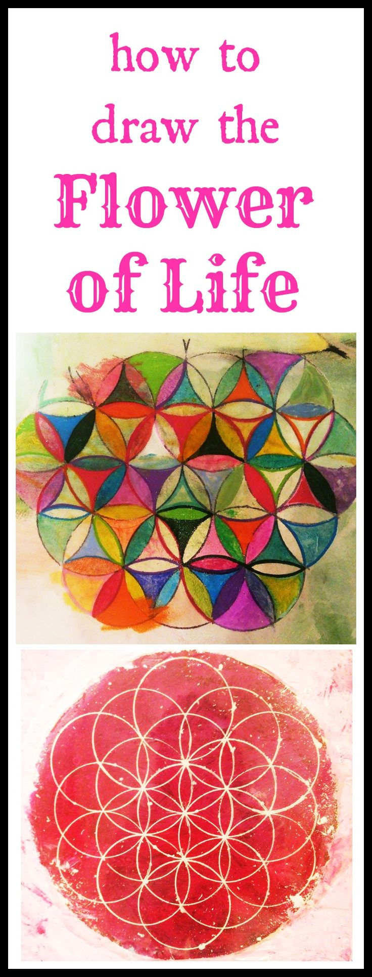 92 best oil acrylic paintings images on pinterest for How to draw the flower of life step by step