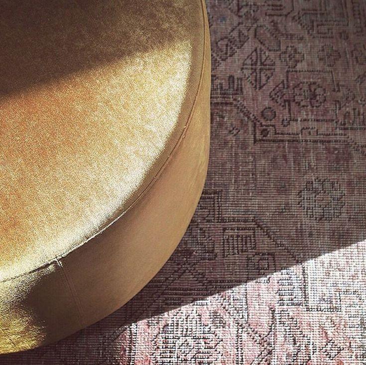 No. 8 @a.nordic.retreat in Velour Mustard  #danishdesign #furniture #scandinaviandesign #interiordesign #furnituredesign #nordicinspiration #retrostyle #Gold #Pouf #Velours #Samt