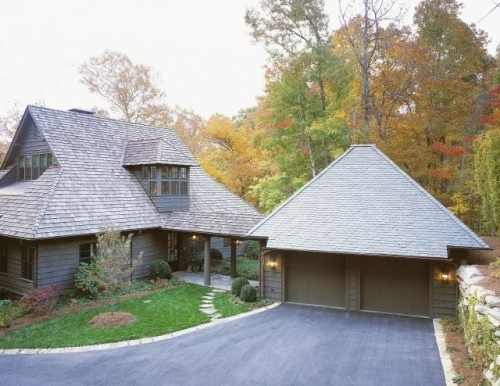 42 best garage images on pinterest breezeway attached for Building a detached garage on a slope
