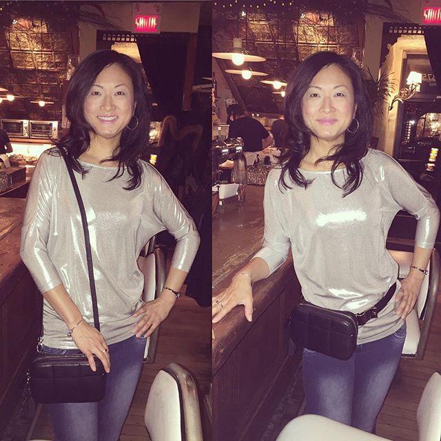 Gorgeous Therese rocking her Holdur. 😍 . . . . . . #fannypack #itsaholdur #skinnystrap #faitauquebec #faitamontreal #italianleather #cuir #maroquinerie #ooaks17 #travelaccessories #madeincanada #nightout