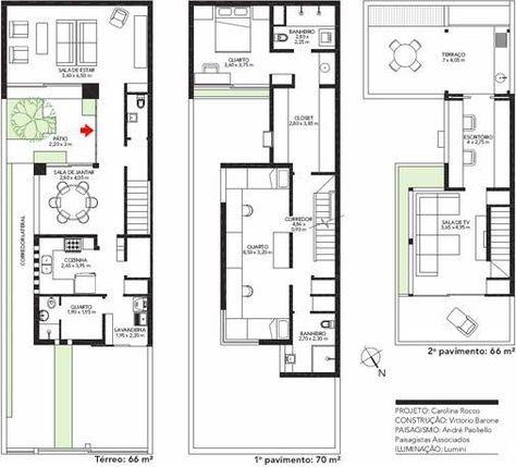 211 best narrow lot plans images on Pinterest Modern homes, Modern