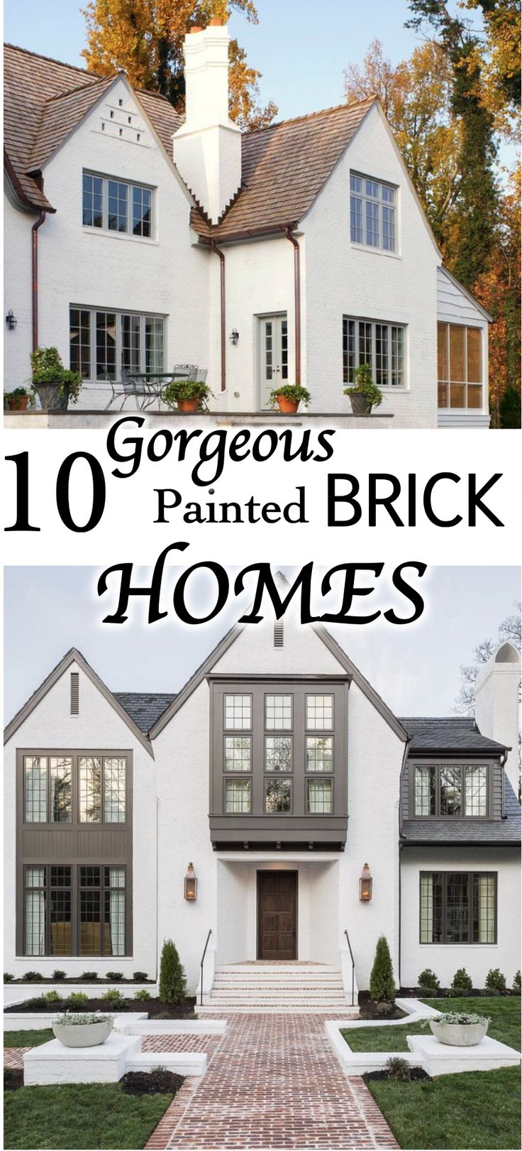 70 best Exterior painted brick homes images on Pinterest | Exterior ...