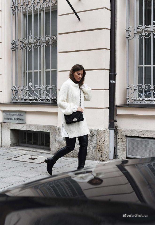 Уличная мода: Красивая немка Nina Schwichtenberg: зимние луки 2015
