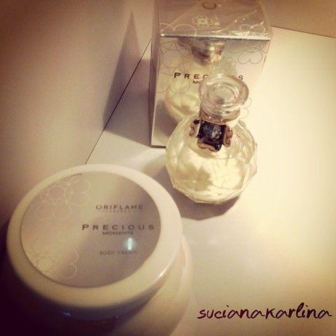 Oriflame Precious eau de parfum and body creme