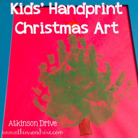 Kids' Handprint Christmas Art | Atkinson Drive