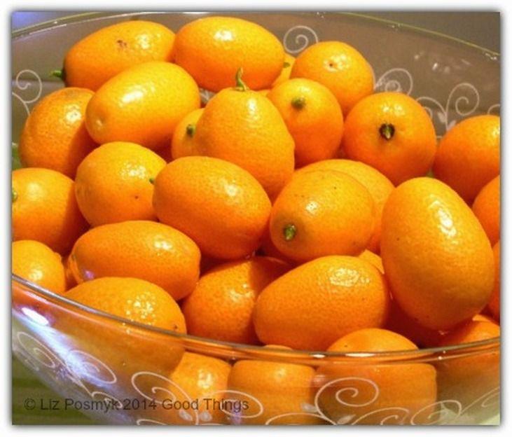 Cumquats in glass bowl by Liz Posmyk