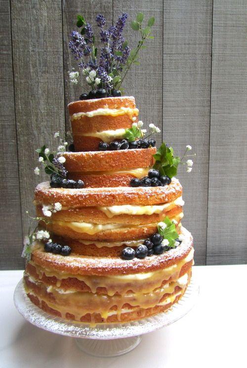 lemon, lavender and blueberry cake