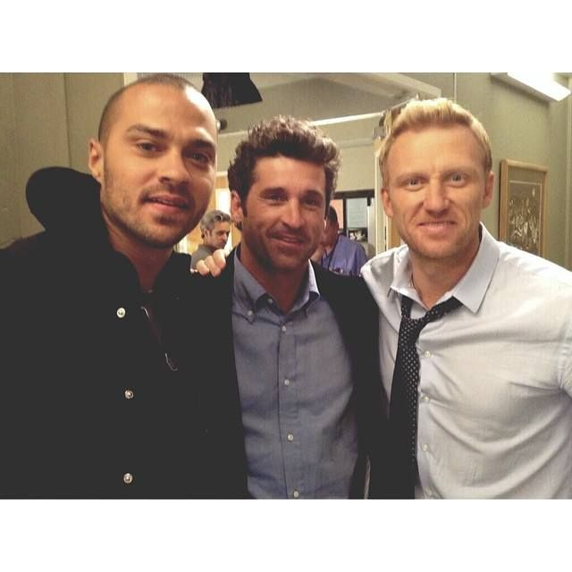 Grey's Anatomy - Jackson Avery (Jesse Williams) Derek Shepherd (Patrick Dempsey), Owen Hunt (Kevin McKidd)