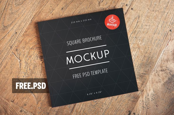 Free PSD Square Brochure Mockup - Mocup | PSD Mockups, Stock Photos and Videos