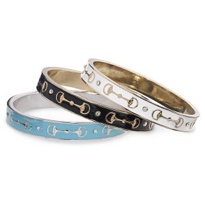 Stackable Enameled Bit Bangle - Horse Themed Gifts, Clothing, Jewelry & Accessories all for Horse Lovers