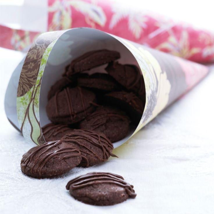 Sjokoladekjeks med marsipan. Noko for mannen (sjølv om den kjem frå melk.no)