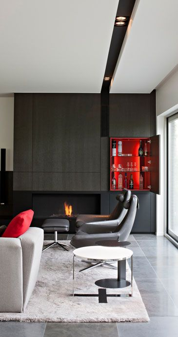 Recessed track for recessed lighting Frederic Kielemoes (Wall Unit Bar + Fireplace)-Touch of Color